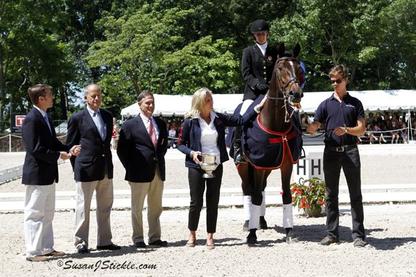 Photo Credit: Rebecca Hart receiving 2012 USEF Para-Equestrian Dressage National Championship award from Ann Romney during the 2012 USEF Dressage Festival of Champions. Photograph taken in Gladstone, NJ (c) Susan Stickle at SusanStickle.com.