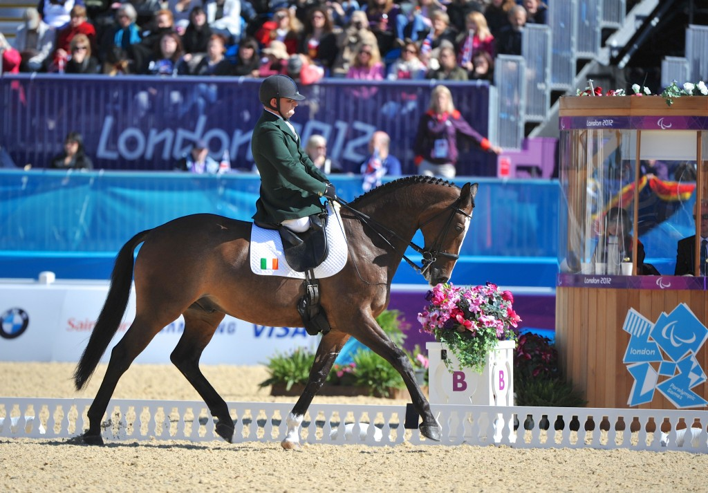 James Dwyer (IRL) and Orlando at 2012 Paralympics photo (c) Lindsay Yosay McCall