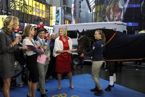 LARA SPENCER, AMY ROBACH, GEORGE STEPHANOPOULOS, ANN ROMNEY, REBECCA HART Photo by:  (ABC/Ida Mae Astute)